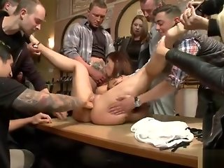 milf, anal, public, red head, spanking, straight