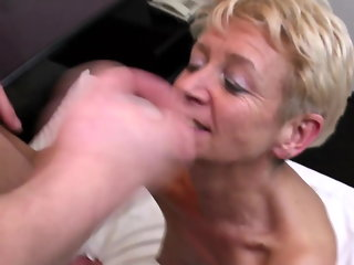 mature blowjob stockings