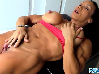 big clit, hd videos, muscular woman, big nipples, big tits, girl masturbating