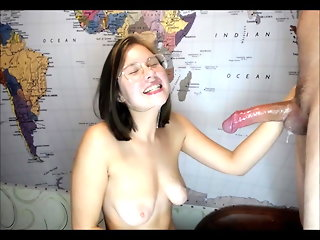 blowjob, webcam, cumshot, nipples, facial, russian