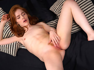 red head masturbation skinny