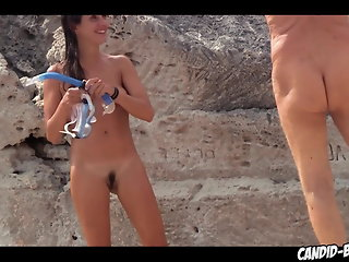 hidden camera beach milf